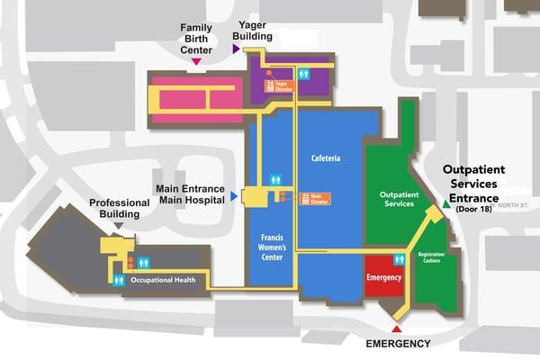Outpatient Services entrance